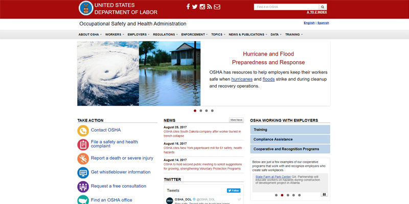 OSHA Removes Worker Fatality List From Homepage